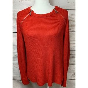 EUC Michael Kors Cable Knit Sweater With Zippers